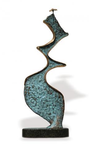 ПОЦІЛУНОК, бронза, камінь, 72х29