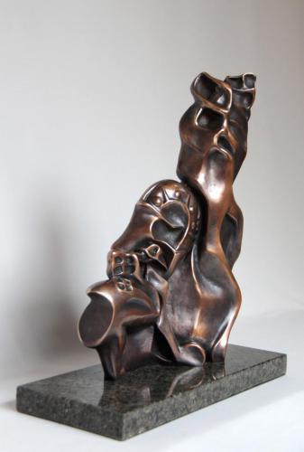 КЛОНИ, бронза, камінь, 37х28
